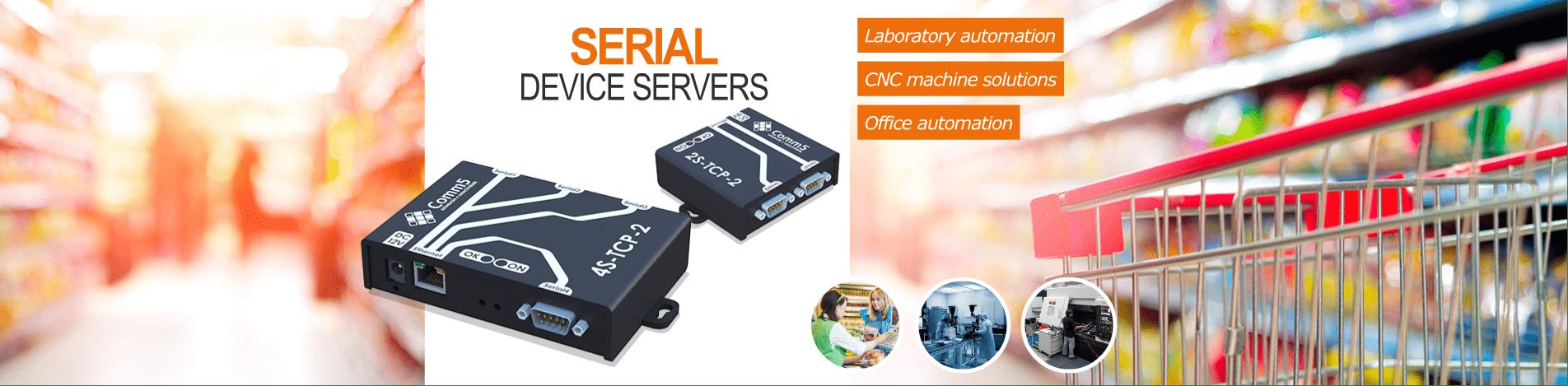 Serial device servers