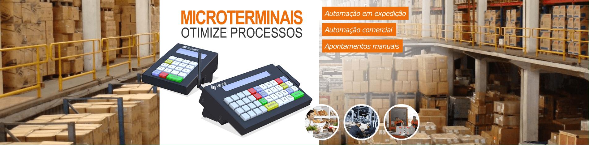 Microterminais Comm5 para automação